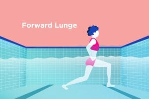 Water Exercise for Arthritis Forward Lunge