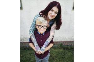 Eileen Davidson and her son