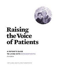 Osteoarthritis Patient Guidelines