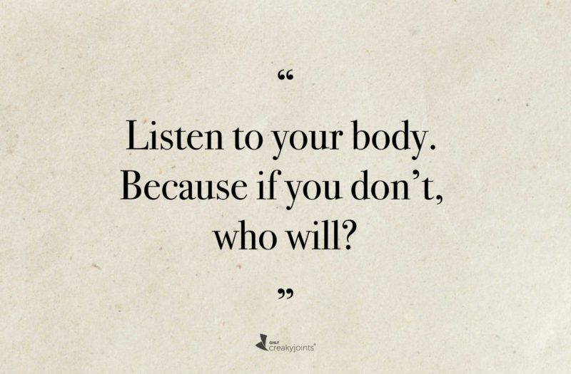 Listen to Your Body Quote