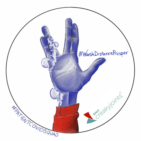 #WashDistanceProsper Coronavirus Logo