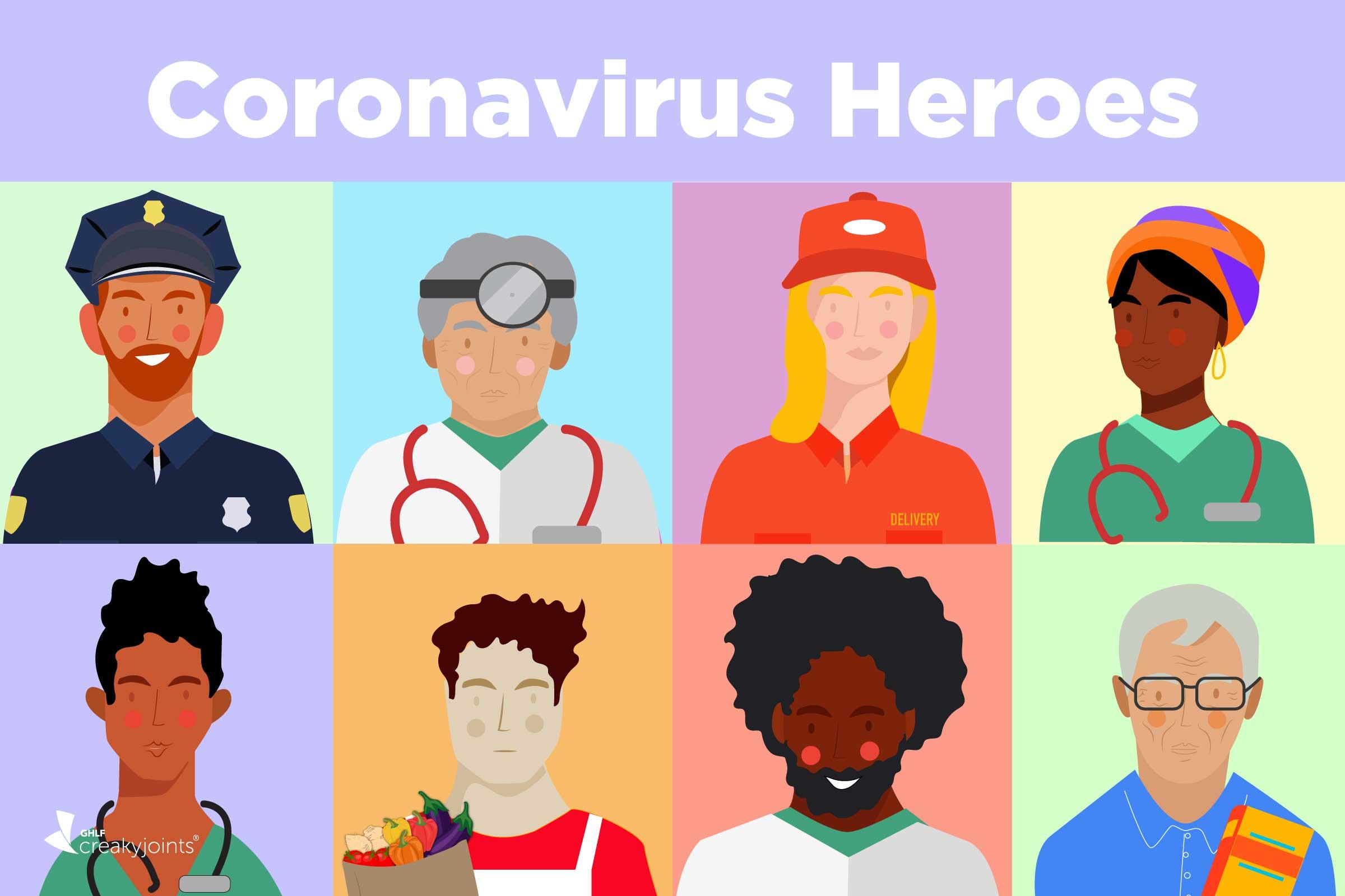 Coronavirus Superheroes