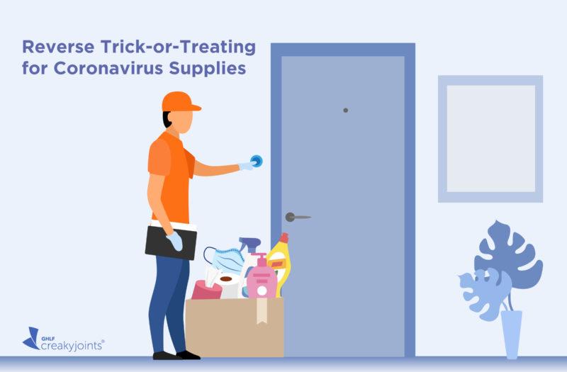 Reverse Trick-or-Treating Coronavirus