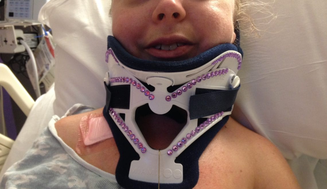 Kelly Rouba-Boyd After Surgery That Required a Ventilator
