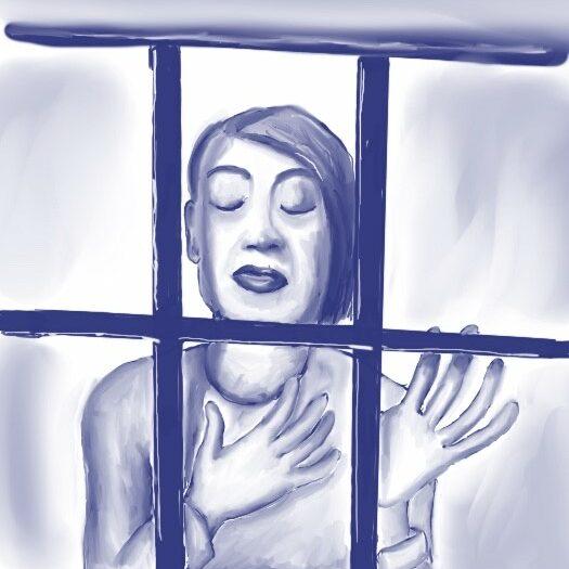 Coronavirus Art Jennifer Walker 'Trapped'