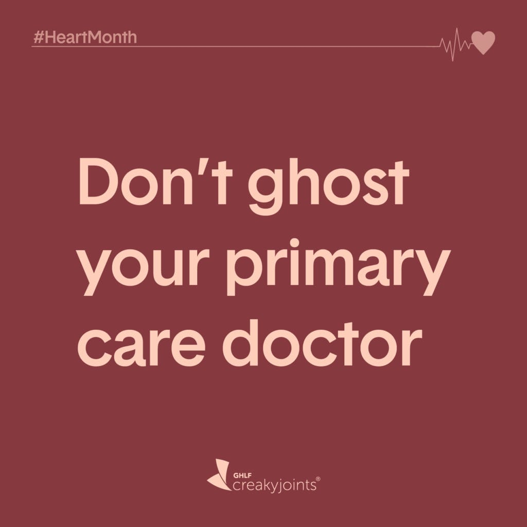 Rheumatoid Arthritis Heart Month Don't Ghost Primary Care Doctor