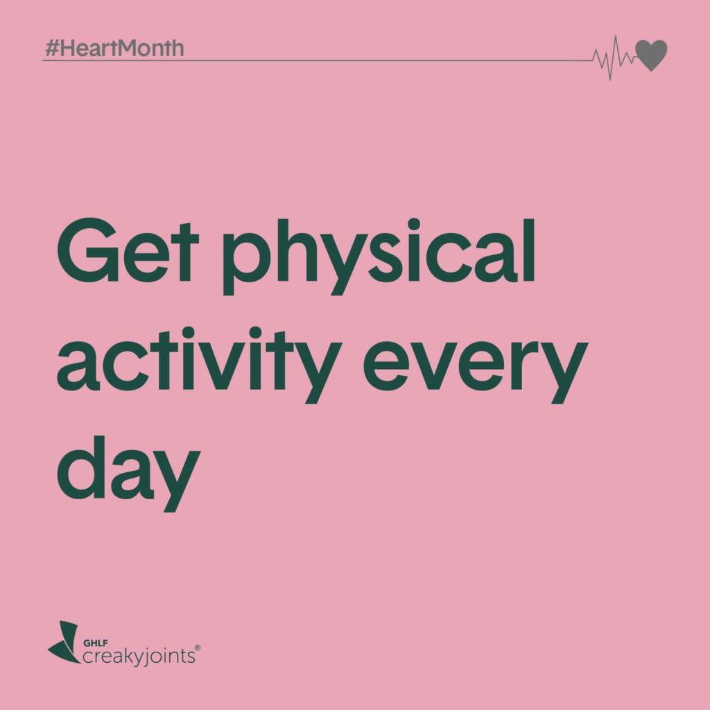 Rheumatoid Arthritis Heart Month Get Physical Activity