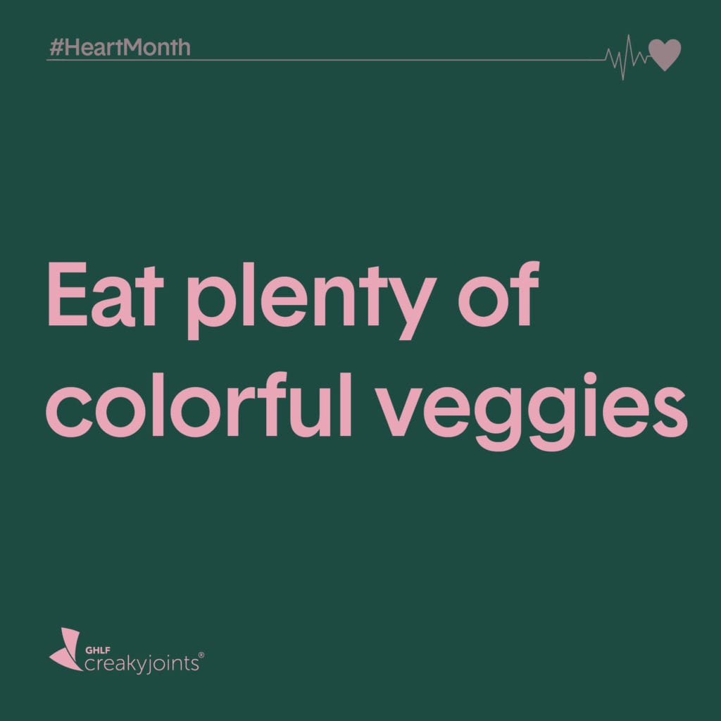 Rheumatoid Arthritis Heart Month Eat Colorful Veggies