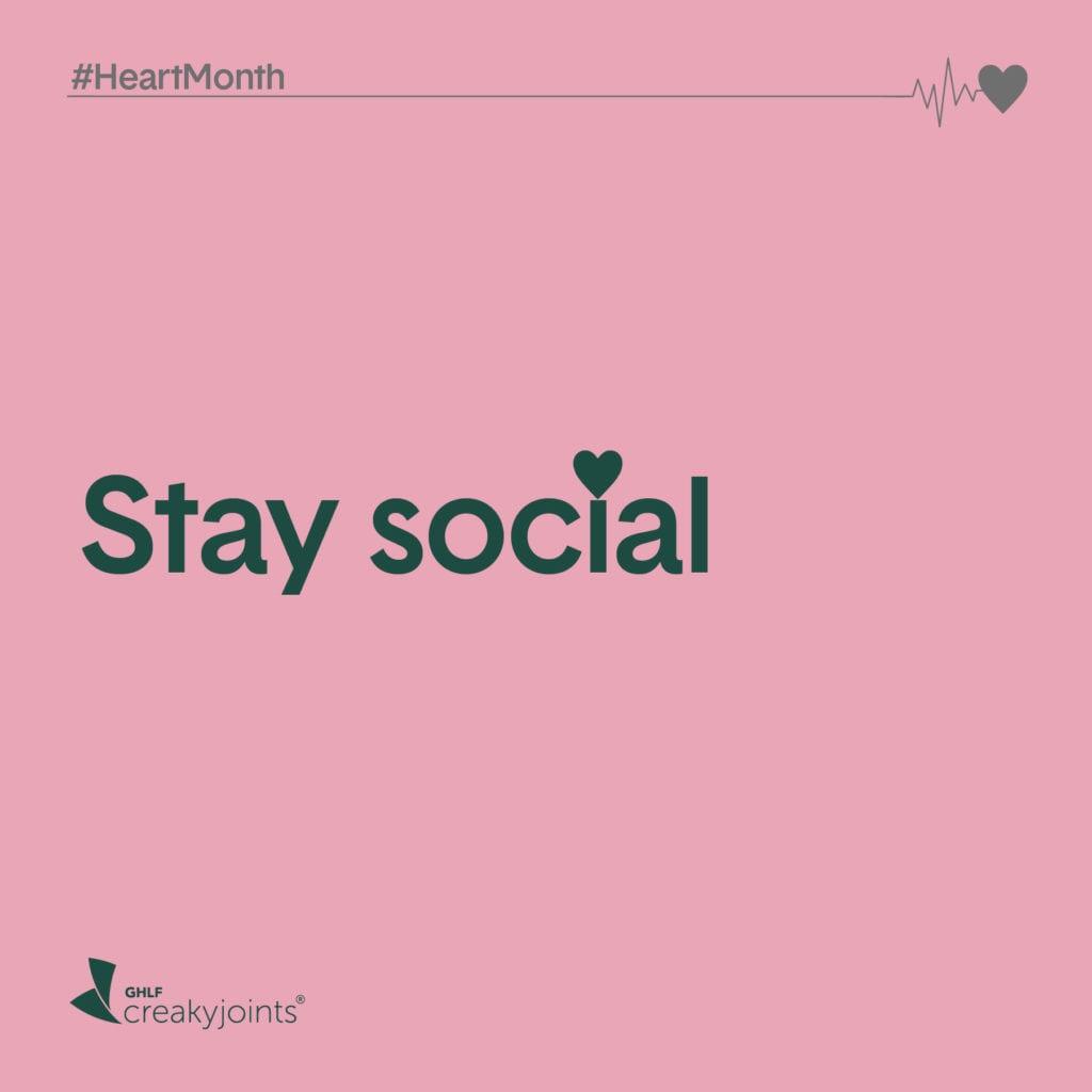 Rheumatoid Arthritis Heart Month Stay Social