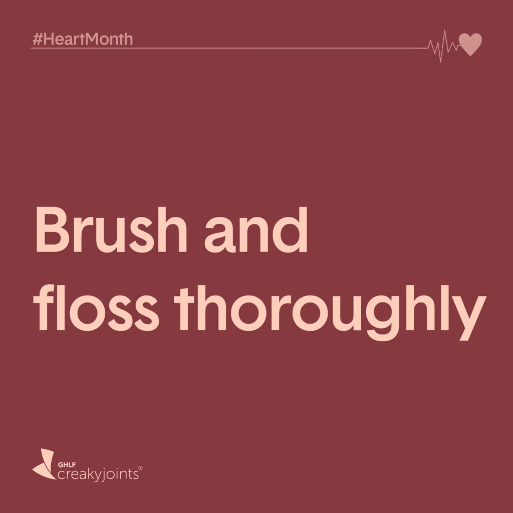 Brush and floss thoroghly