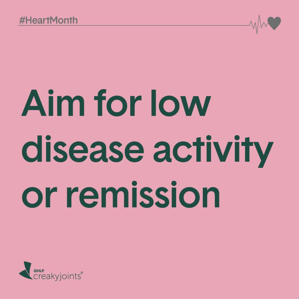 Rheumatoid Arthritis Heart Month Aim for Low Disease Activity